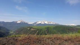 Crêtes couvertes par neige du Colorado de tellurure Image libre de droits