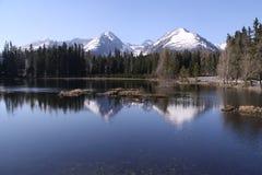 crêtes de lac dessous Images stock