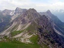 Crêtes de montagne Photos stock