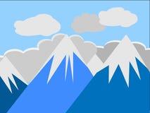 Crêtes de montagne illustration de vecteur