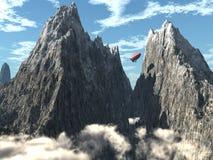 Crêtes de montagne Images libres de droits