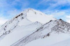 Crêtes de montagne avec le glacier Image libre de droits