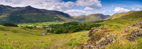 Crêtes de montagne, Cumbria Photographie stock