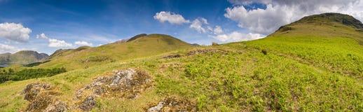 Crêtes de montagne, Cumbria Photo libre de droits