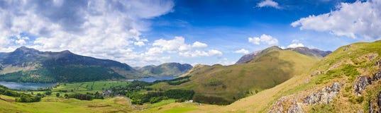 Crêtes de montagne, Cumbria Photographie stock libre de droits
