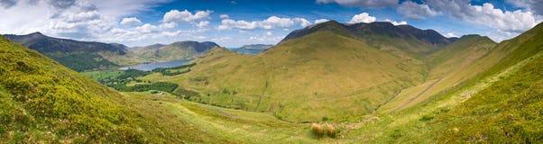 Crêtes de montagne, Cumbria Image libre de droits