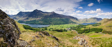 Crêtes de montagne, Cumbria Photos libres de droits