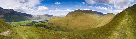 Crêtes de montagne, Cumbria Images libres de droits