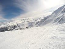 Crêtes de montagne d'hiver Photos libres de droits