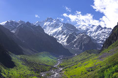 Crêtes de montagne de Milou et vallées vertes Photo stock