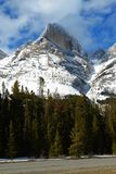 crêtes de montagne de neige Photographie stock