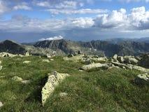 Crêtes de montagne de Retezat Photos libres de droits