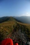 Crêtes de montagne, paysage d'horizon Photographie stock libre de droits