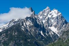 Crêtes de montagne de Teton Images stock