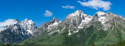 Crêtes de montagne de Teton Photographie stock