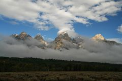 Crêtes de Teton Image libre de droits