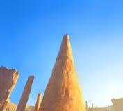 Crêtes des formations de roche dans la vallée de monument Image stock