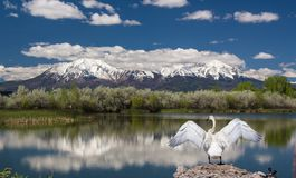 Crêtes espagnoles, le Colorado, près de la La Veta Photo libre de droits