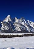 Crêtes grandes de Teton dans la réserve forestière de Bridger-Teton au Wyoming Image libre de droits