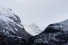 Crêtes norvégiennes photos libres de droits