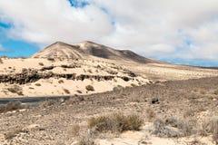 Crêtes sur Fuerteventura Image stock