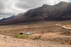 Crêtes sur Fuerteventura Photos stock