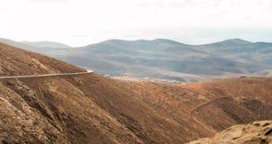 Crêtes sur Fuerteventura Photo libre de droits
