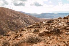 Crêtes sur Fuerteventura Images stock