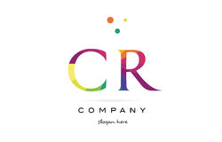 Cr c r  creative rainbow colors alphabet letter logo icon. Cr c r  creative rainbow colors colored alphabet company letter logo design vector icon template Royalty Free Stock Photos