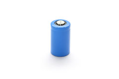 CR2 Lithium Battery Isolated on White Background Royalty Free Stock Photography