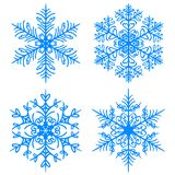 Snowflake winter. Raster version silhouettes on white background stock illustration