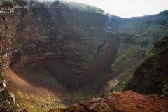 Cr?ter del volc?n de Vesuvio Fotos de archivo libres de regalías