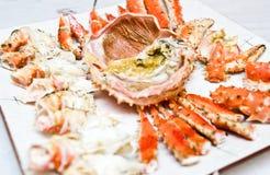 crab плита короля Стоковая Фотография