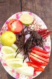 crab специя салата горохов петрушки лука майонеза яичек зеленая изолированная Стоковые Фотографии RF