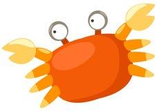 Crab. Illustration of isolated cartoon crab on white background Stock Photography