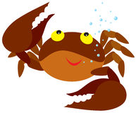 Crab. Vector clipart / illustration for your design and scrapbook Royalty Free Stock Photos
