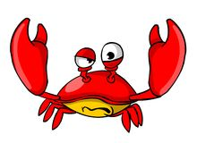 Crab. Illustration of crab character. Isolated on white background vector illustration