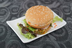 Crab and Alga Burger stock image