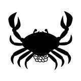 Crab animal silhouette icon Royalty Free Stock Image