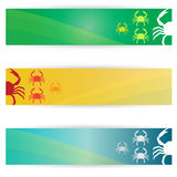 Crab banners Stock Photos