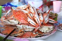 Crab barbecue from thailand Royalty Free Stock Photo