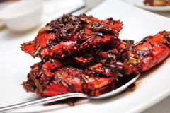 Crab in black pepper sauce Stock Photography