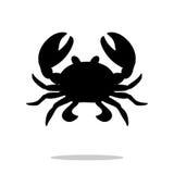 Crab black silhouette aquatic animal Stock Photos