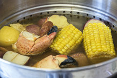 Crab boil Royalty Free Stock Images