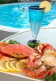 Crab By Pool Royalty Free Stock Photos