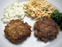 Crab Cake Dinner Royalty Free Stock Photography