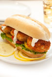 Crab Cake Sandwich Royalty Free Stock Photos