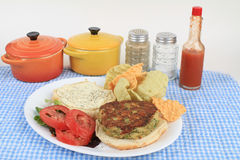 Crab Cake Sandwich Stock Photography