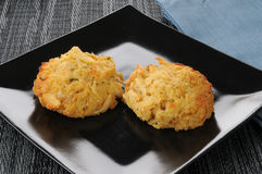 Crab cakes Royalty Free Stock Photography