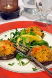 Crab cakes stock photography